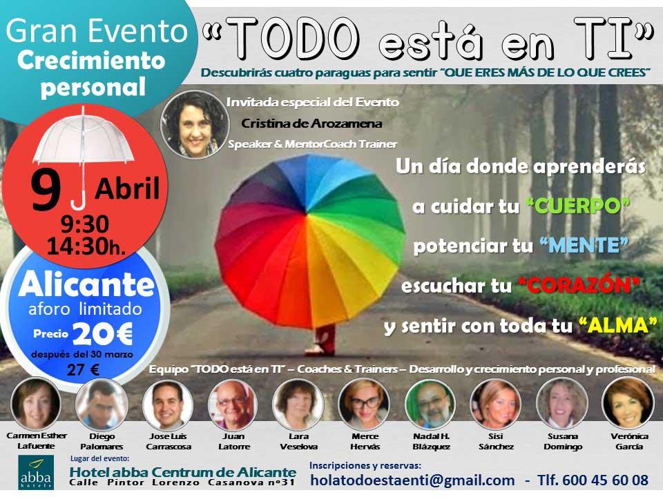 Evento 090416 TODO ESTA EN TI 1
